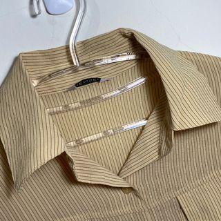 186.古著💁♂️鵝追鵝跑鵝碰額薄長袖直線襯衫