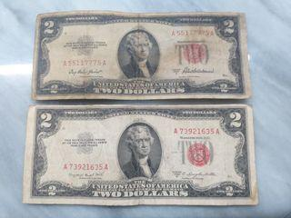 Rare series 1953 $2 federal reserve note