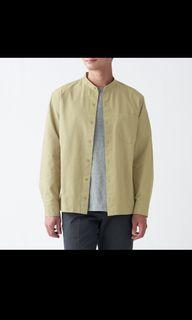 無印淺綠色立領襯衫