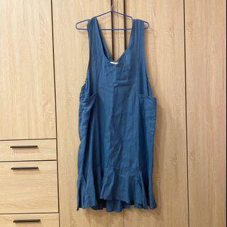 🍡二手🍡藍色魚擺洋裝
