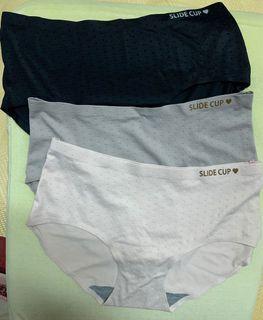 全新 內褲3件組合 女內褲 三角內褲 無痕內褲 中腰內褲