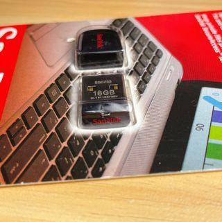 全新 SANDISK 16G Cruzer Fit USB2.0/3.0 迷你隨身碟
