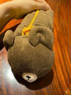 小熊學校 the bear's school 萬用筆袋 圓筒型