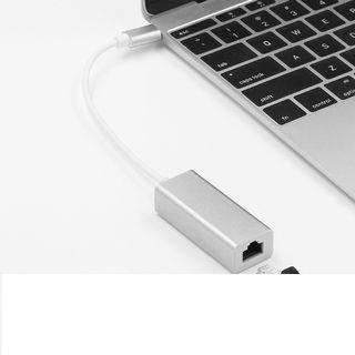 品名: TYPE-C to RJ45 10/100/1000Mps RJ45網卡接頭USB3.1轉網卡 J-14705