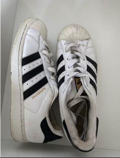 Authentic, Black and White Adidas Super Stars