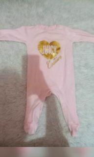 Baju Jumpsuit bayi 6 bulan juicy couture pink