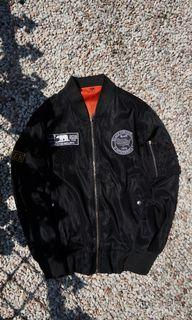 Bomber jacket black time Seoul 1979 with patches