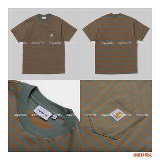 S.M都有 Carhartt WIP Barkley Pocket t-shirt 踢恤 t恤 條紋