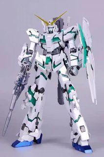 🔥Free Delivery🚚 Daban MG Unicorn Gundam (Titanium  Coating Version) 6637s 1/100 - Green & Red Psycho Frame Final Battle