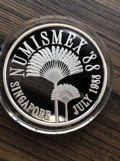 G250 - Singapore Numismatic Association 1988 Silver Proof Medallion