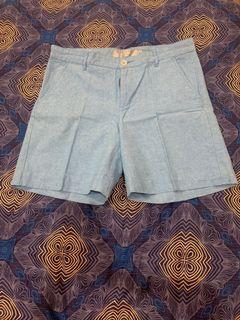 Giordano blue denim shorts
