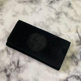 Gucci 麂皮長夾 雙材質 美品 瑞奇二手精品