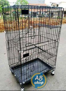 Kandang kucing tingkat 3 size besar 75x100cm free ongkir bayar ditempat