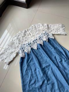 laced denim dress