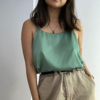 Libé Workshop Silky Green Camisole Top