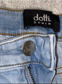 Light Wash Ripped Denim Jeans Size-8