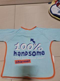 Mothercare Shirt like long sleeve bib