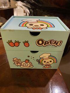 OPEN小將!小型雙層收納木盒