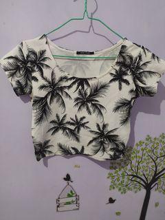Palm White CropTop