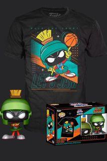 Preorder - Funko Space Jam 2: A New Legacy - Marvin the Martian Metallic Pop! Vinyl Figure & T-Shirt Box Set