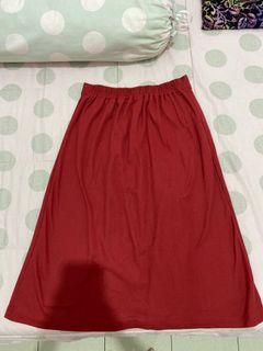 red maroon skirt