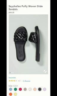 Seychelles Puffy Woven Slide Sandals