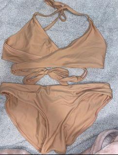 Tan Bikini Set
