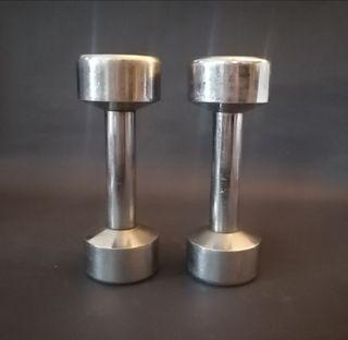 Weider 5 lb Chrome Barbell Weights