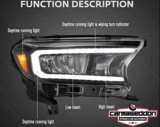 2012 to 2021 Ford Ranger VLAND Led Headlight