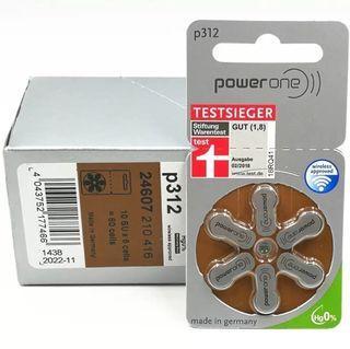 德國p312助聽器電池高級聽力專用Power One high level hearing batteries