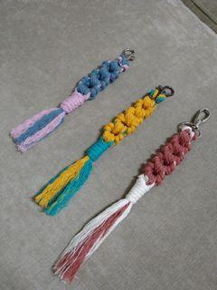 編織雙色鑰匙圈