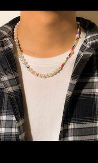 人造珍珠中性男女項鍊