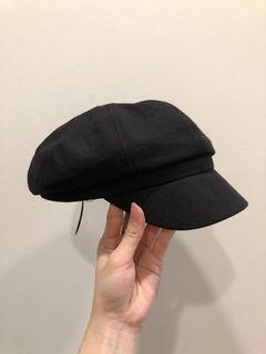 全新 版型超好超挺黑色報童帽 貝雷帽
