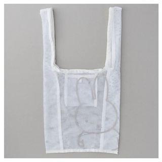 萌貓小店 日本直送-日本miffy 系列收納環保袋 ミッフィー メッシュエコバッグ ホワイト