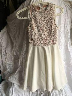 Air Space 白色宮廷蕾絲洋裝