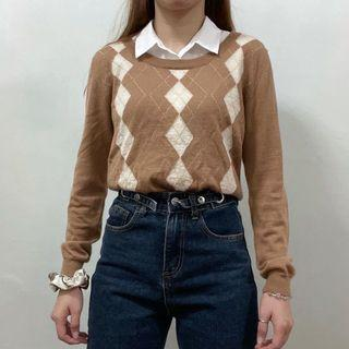 Argyle Knitted Sweater