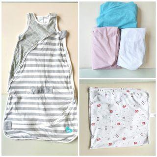 Baby Bedding & Sleeping Needs, Bed/Crib/Cot Sheets (60*120 cm), Sleep Bag, Baby Blanket, Aerosleep, Love to Dream.