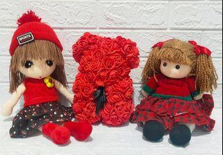 Boneka cewe tema red