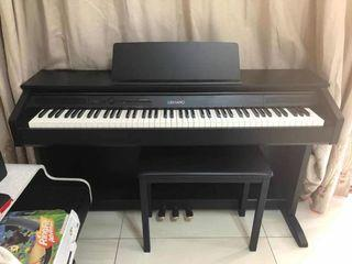 Casio digital piano (CELVIANO AP-260), wood cover, full functionality, good as new