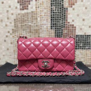Chanel mini Cf 20 樹莓粉💞