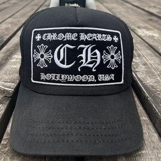 Chrome Hearts Black Trucker Hat