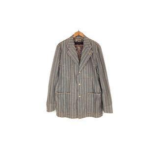 ·  新裝裏百貨行 · Comme des Garçons Homme 川久保玲平織四扣印花條紋西裝外套