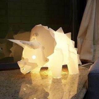 Ming Light DIY 三角龍 恐龍 燈 dinosaur lamp