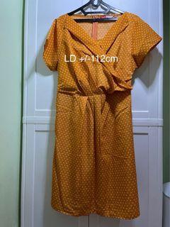 DRESS POLKADOT BIG SIZE LD 112cm
