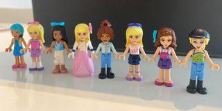 EUC lego friends minifigure x 8