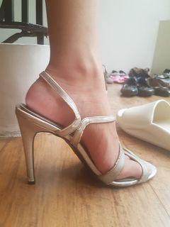 Fiona Silver Heels