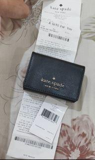 Katespade Micro tri fold wallet black