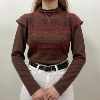 Knit Wear High Neck Knitted Sweater Pullover