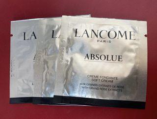 Lancome 極緻完美玫瑰面霜 Absolue Soft Cream sample 試用裝 每包1ml $15=3包 包平郵