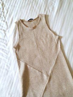 MANGO Oatmeal Rib Midi Dress (like love bonito, zara, the editor's market style)